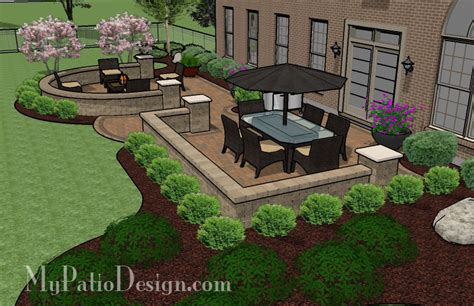my patio design large extended patio tinkerturf