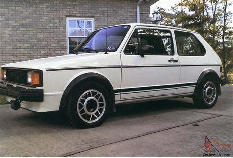 volkswagen rabbit interior 1983 vw rabbit gti callaway stage 2 turbo white with