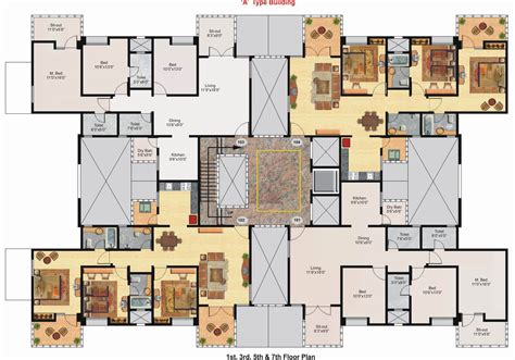3d floor plan of a mansion modern house