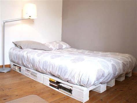 diy recycled pallet bed frame designs easy pallet ideas
