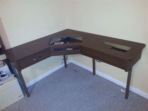 Sewing Machine Table For 2 Machines L Shaped Model