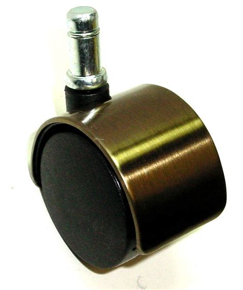 Chair Caster Wheels by One 50mm Dual Wheel Chair Caster With Brushed Brass Finish