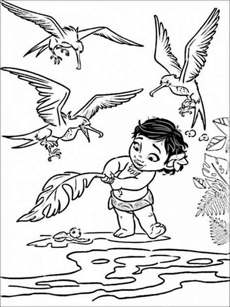 coloring pages disney moana get this disney princess moana coloring pages to print ru28y