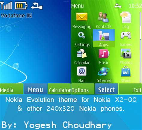 nokia x2 watch themes nokia evolution theme for nokia x2 00 and others by