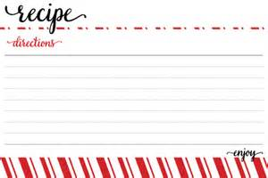 Free Christmas Recipe Card Template Holiday Egg Nog Recipe Card Template Free Download