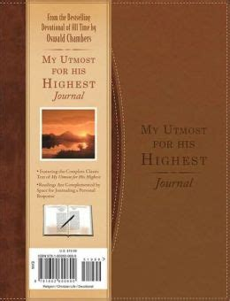 My Uttermost For His Highest by My Utmost For His Highest Journal By Oswald Chambers