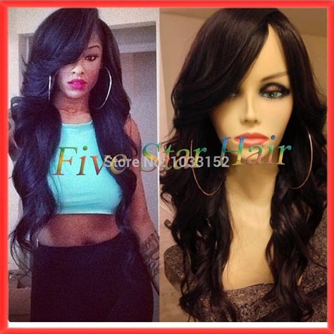 sew in long hairstyles with a swoop bang swoop bang black hairstyles hair