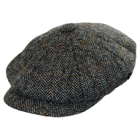 Wool Caps city sport caps herringbone harris tweed wool newsboy cap