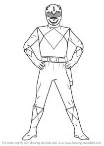 learn draw blue ranger power rangers power rangers step step drawing tutorials