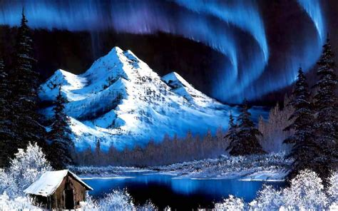 bob ross painting sky paintings mountains snow bob ross artwork
