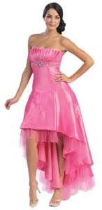 Strapless high low prom dresses for junior party cocktail dresses