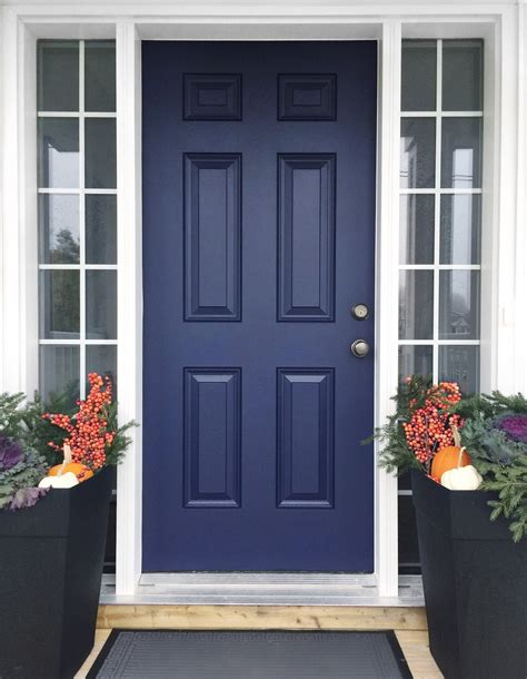 Blue Front Door Paint How To Paint Your Front Door House Of Hire