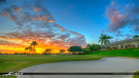 sunset course at country club abacoa golf course clubhouse during sunset