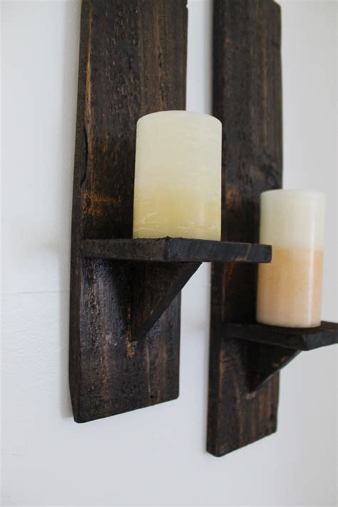 Wood Wall Sconces For Candles diy pallet wood candle sconces