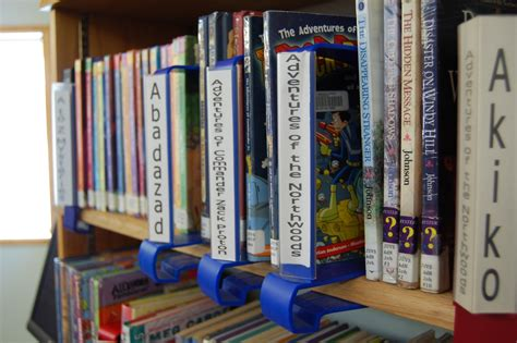 Library Shelf Dividers by Come Into Delight Series On A Stick