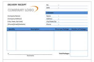delivery receipt template sle delivery receipt delivery receipt template