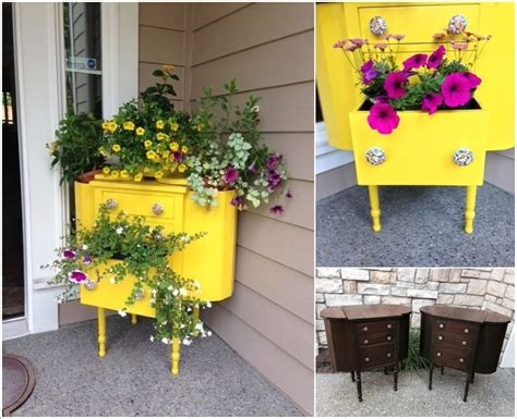 how to make cool planters from recycled materials one cool and creative recycled furniture planter ideas