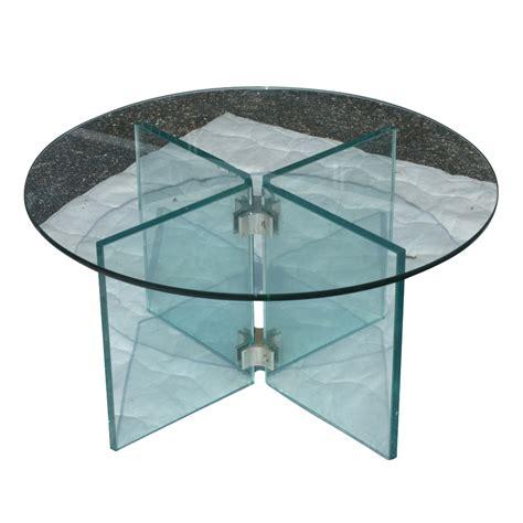 25 quot diam mid century modern glass coffee table ebay