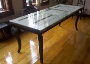 how to make a dining table out of a door diy and crafts