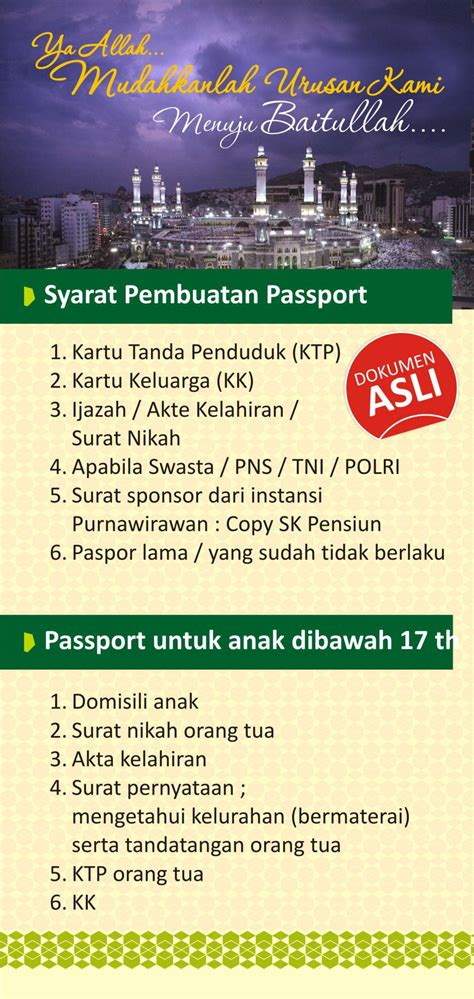 syarat pembuatan paspor baru untuk anak syarat pembuatan passport biro umroh saibah semarang