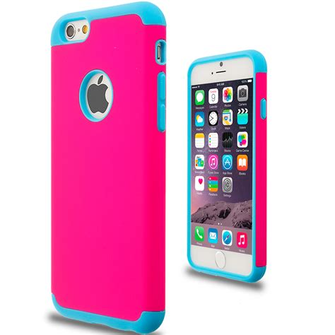 Slim For Iphone 55s Pink baby blue pink hybrid slim soft shockproof armor cover for apple iphone 6 6s 4