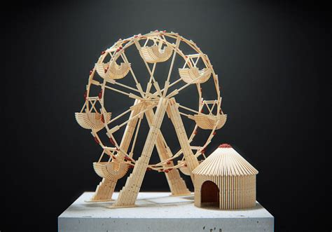 Korek Api Model Stick matchstick ferris wheel by shadowhuntersk on deviantart