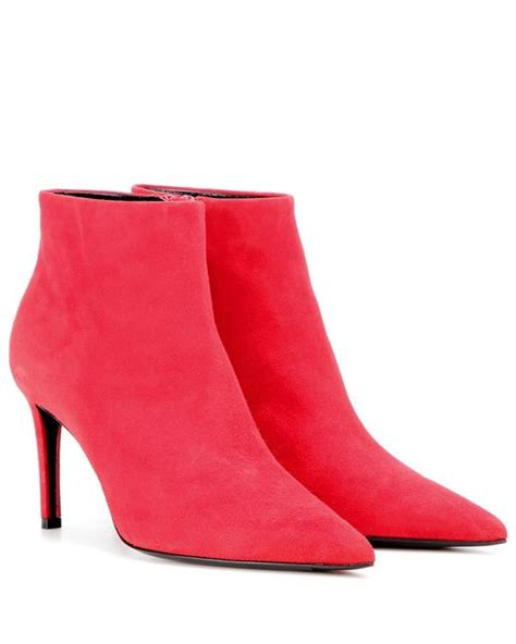 balenciaga suede ankle boots in lyst