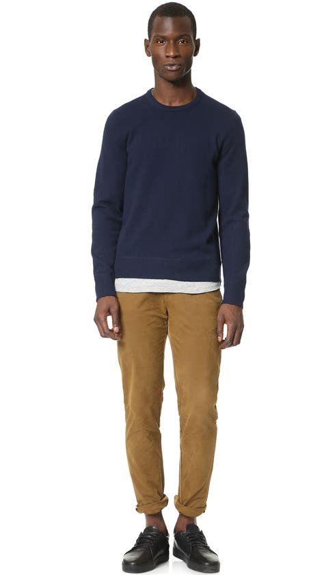 Snk 4 Navy Sweaterwa Snk 05 rag bone nathan crew sweater in blue for lyst