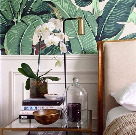 interior themes new leaf bedroom banana leaf from martinique wallpaper mid