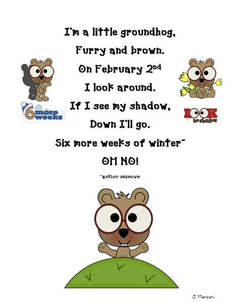 groundhog day poem grade gallery lessons for learners