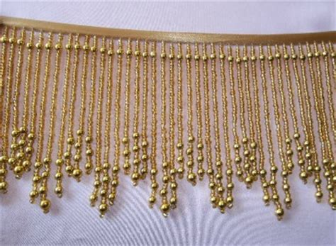 bright gold 5 quot beaded fringe for all arts and crafts