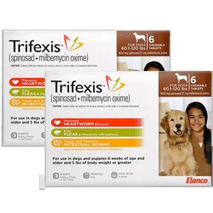 trifexis for dogs trifexis for dogs 60 1 120 lbs 12 chewable tablets brown vetdepot