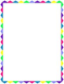 Borders Template by Rainbow Border Template Connect With