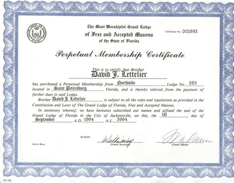 Certificate Vs Letter The Un Masonic Conduct Charge Was Untrue And Many Respected Masons Supplied Letters Who