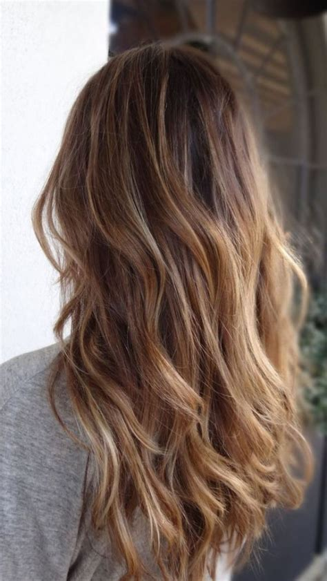 Brunette To Blonde Ombre Images | picture of brown to caramel and blond ombre hair