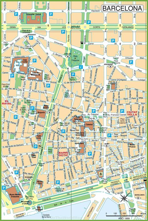 Printable Map Barcelona City Centre | maps update 30722069 barcelona tourist map tourist map