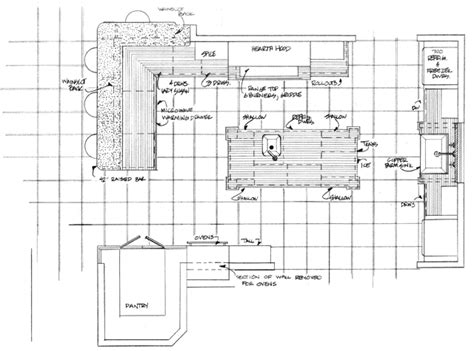 island kitchen plan room planning kitchen floor plan