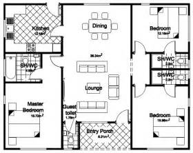 Three Bedroom Floor Plan by 3 Bedroom Bunglow Floor Palns Joy Studio Design Gallery