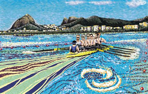 sculling boat canvas rio olympic rowing eights rowing sculling paintings and