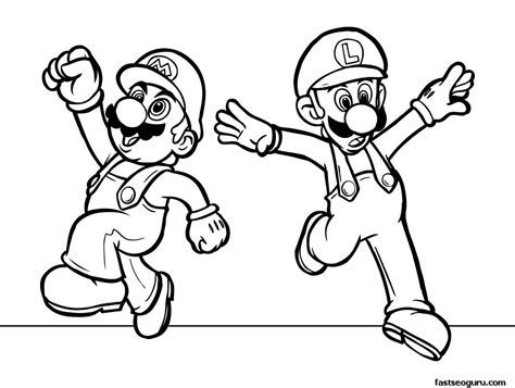 super mario coloring page printable printabel cartoon super mario coloring pages for kids