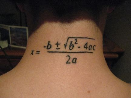 quadratic formula tattoo math tattoos archives the loom the loom
