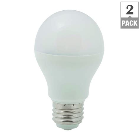 Ecosmart Led Light Bulbs Ecosmart 60w Equivalent Soft White A19 Non Dimmable Led Light Bulb 2 Pack Ecs Gp19 60we W27