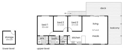 simple and straightforward cabin floor plan 3 bedrooms
