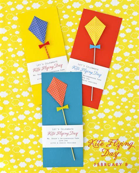 printable kite invitations kite flying day party invitation diy