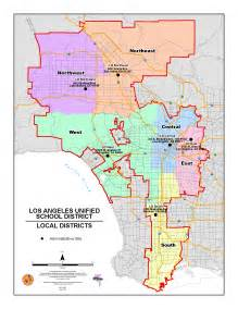 Los Angeles Zone Map by Lausd Maps Local District Maps 2015 2016