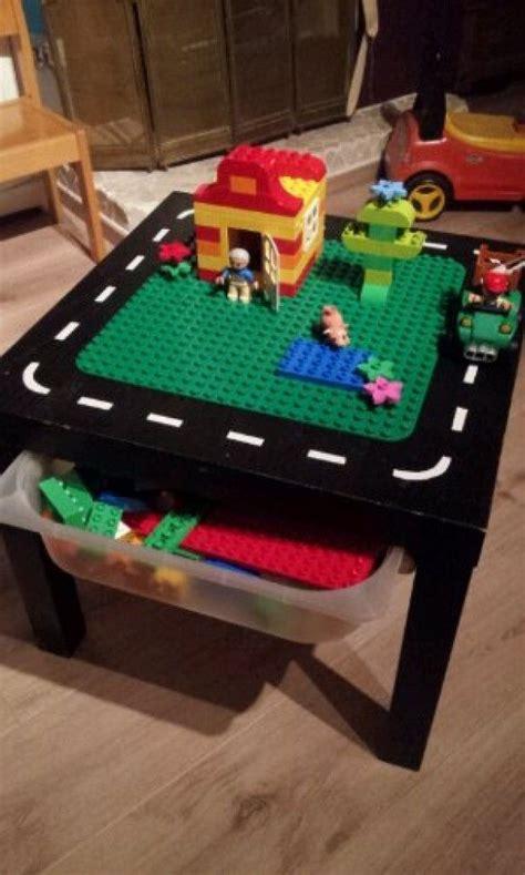 diy lego table ikea lack duplo tafel zelf maken lack tafeltje en trofast opbergbak ikea leuke knutsels