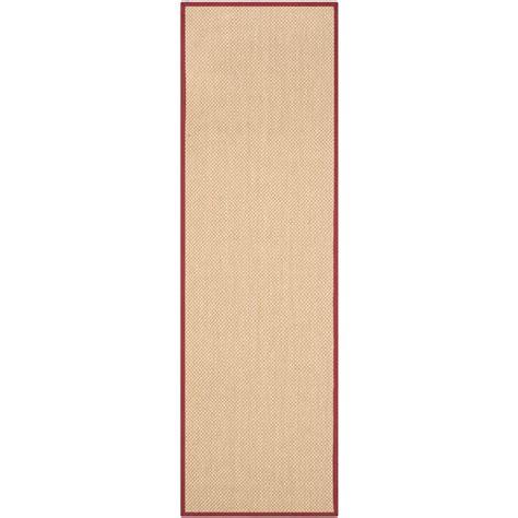 6 foot runner rug safavieh fiber maize burgundy 2 ft 6 in x 6 ft runner rug nf141d 26 the home depot