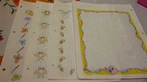 margenes para cuadernos m 225 rgenes kawaii para tus cuadernos youtube