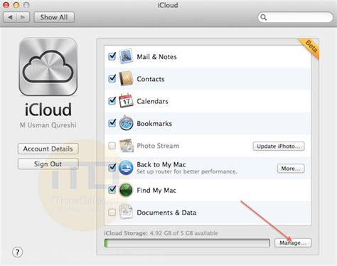 How To Make Room On Icloud by How To Manage Icloud Account Storage On Mac Os X 10 7