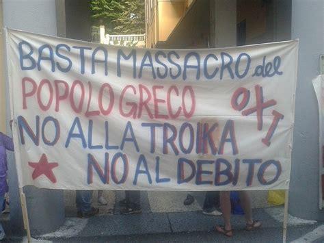 consolato greco a presidio al consolato greco no ai diktat della troika